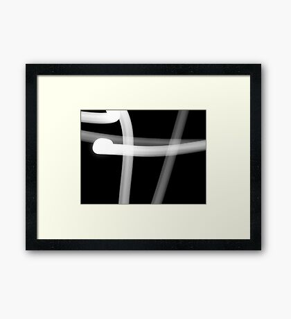 There is a hole in the fence..... Framed Print