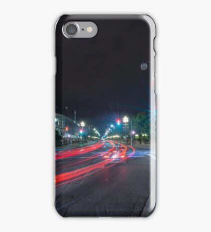 Streaks of the cars iPhone Case/Skin