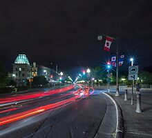 Streaks of the cars by Josef Pittner