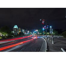 Streaks of the cars Photographic Print