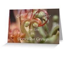 Grevillea Top Ten Banner Greeting Card
