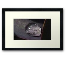 Water Droplet Mirror Ball Framed Print