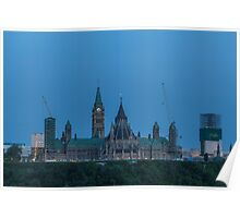 Canada's Parliament buildings - Centre Block Poster