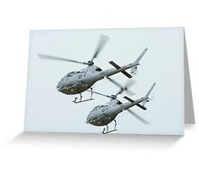 AS 350BA Squirrel Helicopter Greeting Card