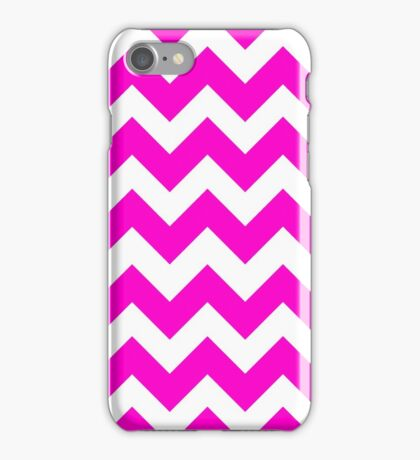 Cute Neon Pink Chevron Zigzag Pattern iPhone Case/Skin