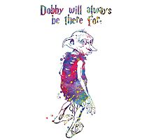 Dobby Quote from Harry Potter Watercolor by bittermoon
