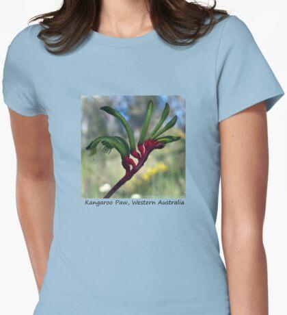 Kangaroo Paw Womens Fitted T-Shirt