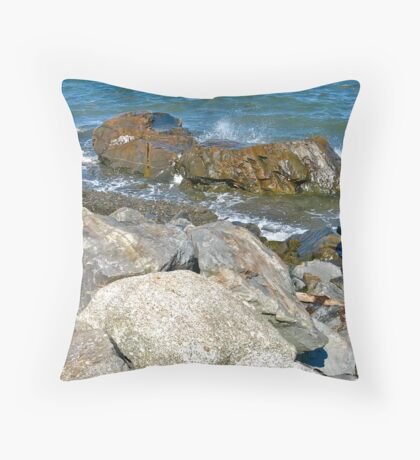 Gilbert's Cove Lighthouse III Throw Pillow
