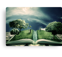 The Magic of Literature Canvas Print