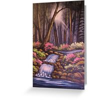 Waterfalls in the Forest Greeting Card