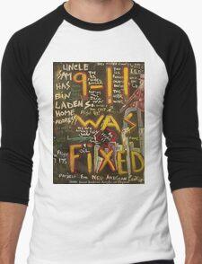9-11 WAS FIXED BLACK Men's Baseball ¾ T-Shirt