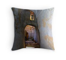 Tunnels of Arnados Throw Pillow