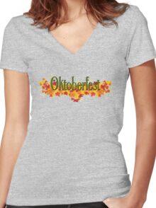Oktoberfest Women's Fitted V-Neck T-Shirt