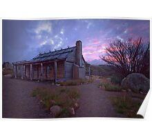 Craigs Hut Sunset Poster