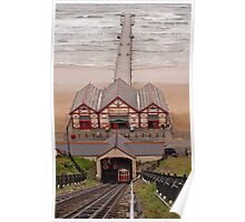 Cliff Lift and Pier at Saltburn Poster