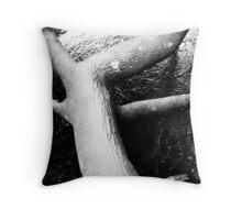 fallen tree in river  Throw Pillow