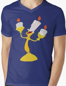 -Lumiere Be our guest Mens V-Neck T-Shirt