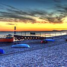 Branscombe Beach & boats by Rob Hawkins