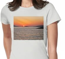 Rhodes Sunset Womens Fitted T-Shirt