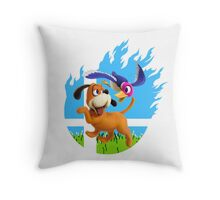 Smash Hype - Duck Hunt Dog Throw Pillow