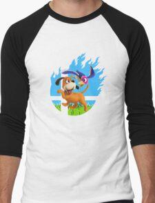 Smash Hype - Duck Hunt Dog Men's Baseball ¾ T-Shirt