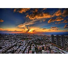 Tel Aviv, sunset time Photographic Print
