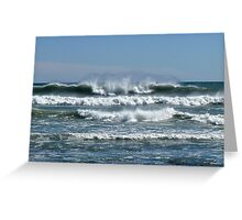 Waves from the Atlantic - Wind from the North - Point Judith - Rhode Island Greeting Card