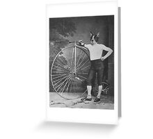 Boston Terrier with Bike Greeting Card