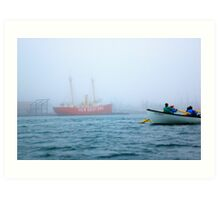 New Bedford rowing club Art Print