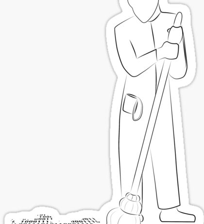 Digital Janitor Sticker