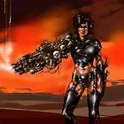 Cyborg warrior by kukulcan