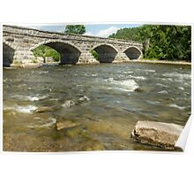 The flowing waters and the bridge Poster