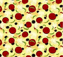 Pizza Toppings Pattern by ArtVixen