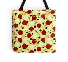 Pizza Toppings Pattern Tote Bag