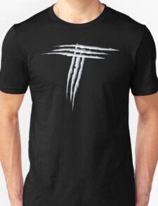 NSL Letter T White Scratch T-Shirt