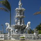 Beautiful Fountain in Puerto Rico by William Guilmette
