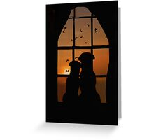 Romantic Dogs Greeting Card