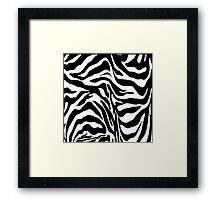 Zebra Print Framed Print
