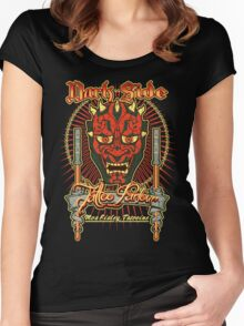 Dark Side Tattoo Parlour Women's Fitted Scoop T-Shirt