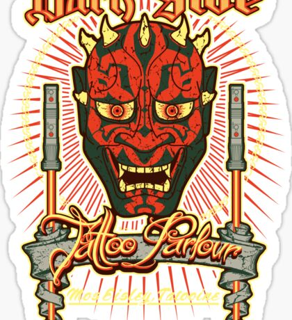 Dark Side Tattoo Parlour Sticker