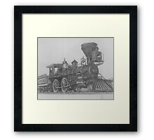 "'Golden Spike' Ceremonial Engine- ""Jupiter"" Framed Print"