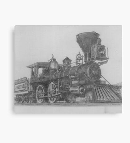 "'Golden Spike' Ceremonial Engine- ""Jupiter"" Canvas Print"