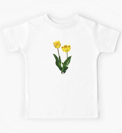 Backlit Yellow Tulips Kids Tee