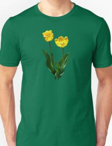 Backlit Yellow Tulips Unisex T-Shirt