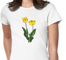 Backlit Yellow Tulips Womens Fitted T-Shirt