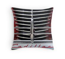 Red Cad Throw Pillow
