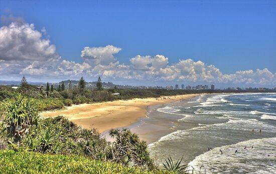 Dreamtime Beach from Fingal's Head, NSW, Australia by Bob Culshaw
