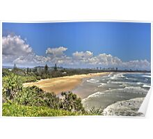 Dreamtime Beach from Fingal's Head, NSW, Australia Poster