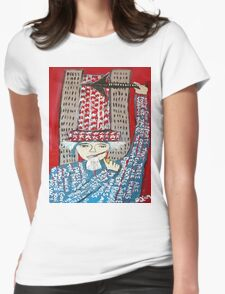 9-11 WAS FIXED RED Womens Fitted T-Shirt