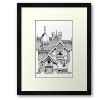 Pac-Man Haunted House Framed Print
